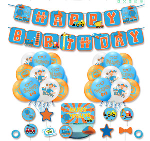 """12"""" BLIPPI Latex Balloons bunting banner Kids Birthday Party Supplies Decoration"""