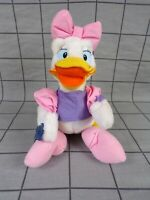 """Vintage 80s Disney Daisy Duck Soft Toy Plush 12"""" With Tag"""