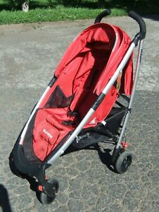 Joovy Family Gear Kooper Umbrella Red 4 Wheel Stroller Used