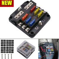 6 Way Blade Fuse Box & Distribution Bar Bus Boat Car Kit Marine Holder 12V 32V