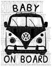 Splitty Split écran T1 Bébé à Bord Sticker Vinyle Signe de sécurité V DUB VW decal