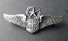 USAF AIR FORCE NAVIGATOR MASTER OBSERVER WINGS LAPEL HAT PIN BADGE 2 INCHES