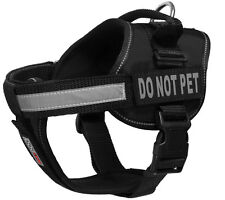 """DO NOT PET ASK PET ME Dog Vest with Removable Reflective Patch Size 15"""" - 46"""""""