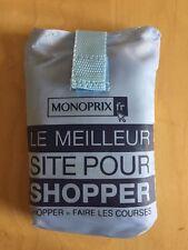 MONOPRIX French Grocery shopping bag, Light Blue,  Navy Logos