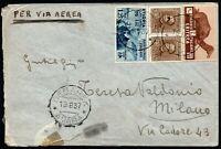 798 - Colonie, Eritrea, Etiopia - 3 colori e annullo Debarek su busta, 1937