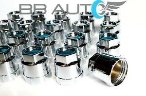 SET OF 20 NEW 82-92 CAMARO FIREBIRD SCREW ON CHROME LUG NUT COVERS CAPS
