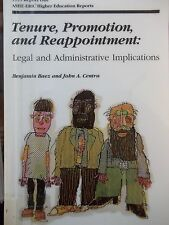 Tenure, Promotion, and Reappointment: Legal and Administrative Implications