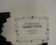 Algodón Papel de Pergamino Leche Blanco A4 160gsm x 15 Tarjetería certificados