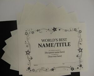 Cotton Parchment Paper Milk White A4 160gsm x 15 Cardmaking Certificates AM352