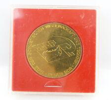 Medaille: goldfarben CCCP Tag der sowjetischen Wissenschaft, Technik DDR e1482