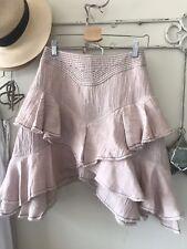 AJE Alton Skirt Pink Blush Tiered Layered Short Skirt Never Worn Sz 8 $250