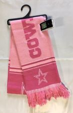 Dallas Cowboys Scarf Knit Winter Neck - Double Sided Team Logo New PINK - Rare
