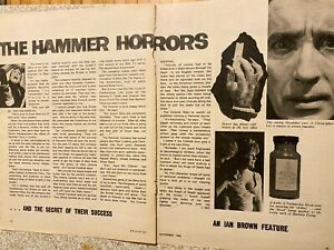Hammer Horror Films, Christopher Lee, Two Page Vintage Clipping