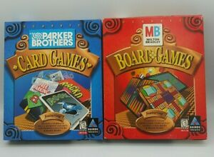 PC Game Lot Classic Milton Bradley Board Games & Parker Brothers Card Games