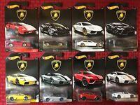 Hot Wheels 2017 Lamborghini Full Set ~ 8 Car Lot. Walmart Exclusive