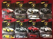 Hot Wheels 2017 Lamborghini Full Set ~ 8 Car Lot. Walmart Exclusive