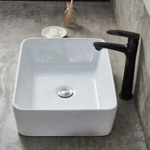 Modern Compact Cloakroom Basin Bathroom Hand Wash Sink White Ceramic Vanity