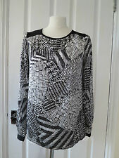 Geometric Tunic, Kaftan Long Sleeve Polyester Women's Tops & Shirts