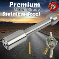 HITCH PIN LOCK TOW BALL MOUNT BAR TONGUE LOCK STAINLESS STEEL FOR MARINE TRAILER
