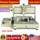 USB 4Axis CNC 6090 Router Engraver 1.5KW Woodworking Enragving Milling Machine