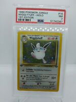Pokemon 1st Edition Wigglytuff Holo Jungle 16/64 PSA 7 NM