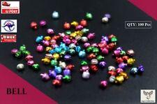 100 Pcs 6mm Color Small Beads Jingle Bells Christmas Decorations Xmas [A9I2~E7]