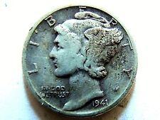 1941-D Mercury Silver Dime Book Filler