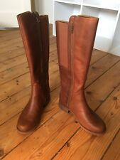 Womens Waterproof Timberland Brown Leather Knee High Boots Size Uk5 BNWB