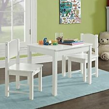 Unisex Children's White Table&Chairs Bedroom Dinner Snack Activities Furniture