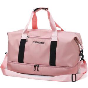 Women's Waterproof Fitness Travel Sport Gym Bag Luggage Duffel Handbag 2021
