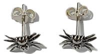 Spider Stud Post Earrings 925 Sterling Silver