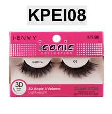 d9de03c86eb I ENVY BY ICONIC COLLECTION 3D ANGLE & VOLUME EYELASHES # KPEI08 GLAM ICON