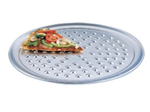 """Commercial Aluminium Pizza Nib Oven Round Tray Serving Pan Thin Crust 6 to 20""""in"""