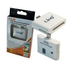 Otg Kit Di Collegamento 2 In 1 Smart Card Reader Per Samsung Galaxy Linq Otg-Cs5