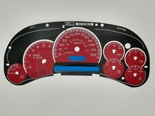 Red Custom Gauge Face Overlay Inlay 2003 04 05 Gm Gas Instrument Clusters New