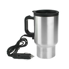 Heated 12V 450ml Stainless Steel Travel Heating Cup Coffee Tea  Car Cup Mug