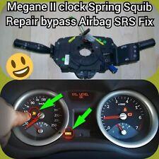 #RENAULT MEGANE II CLOCK SPRING AIR BAG SQUIB COUPLING WIPER - Bypass Repair Fix