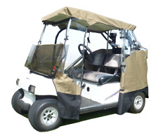 3 Sided Enclosure for 2 Seater Golf Cart | EZGO ClubCar Yamaha (Front Uncovered)