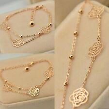 Luxury Charms Beach Rose Gold Ankle Bracelet Chain Foot Anklet-Jewelry-