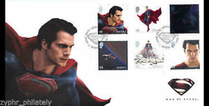 """Jersey - """" SUPERMAN ~ MAN OF STEEL """" Unique FDC First Day Cover 2013 !"""