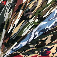 Fashion Army Green Camo Camouflage Print 100% Cotton Material Fabrics Poplin DIY