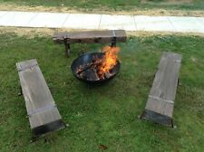 Bench Seats Recycled Jarrah Wharf Timber FIRE PIT Seating $750 Each