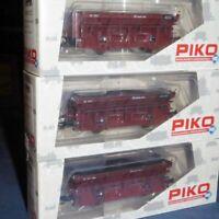 Piko 58312 H0 3 er Set Güter- Kohleselbstentladewagen Ot der DB unbespielt, OVP