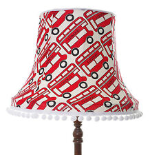Handmade lampshade in London bus red white fabric for standard lamp / ceiling
