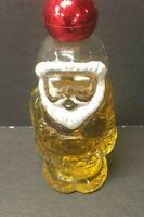 Avon Jolly Santa Here's My Heart Cologne 1oz Decanter Bottle & Box Christmas