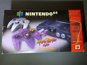 Nintendo 64 N64 Game Console Purple Controller Brand New