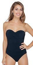 NWT Profile Tutti-Fruti Black Underwire Bandeau Swimsuit E504-2D04-001 6D/36D
