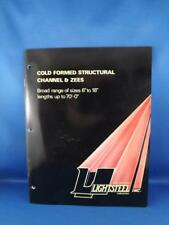 LIGHTSTEEL COLD FROMED STRUCTURAL CHANNEL & ZEES ADVERTISING BROCHURE