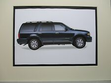 1998 Lincoln Navigator   artist art Auto Museum Full color  Illustrated