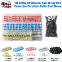 100-800pcs Waterproof Heat Shrink Wire Connectors Terminals Solder Seal Sleeve